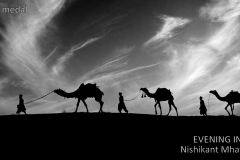 4th_D-01PSAG-Nishikant Mhatre-India-EVENING IN DESERT